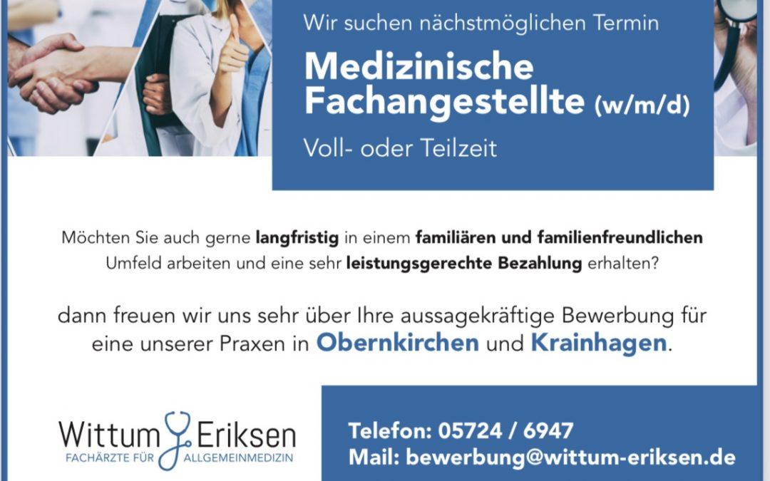 Medizinische Fachangestellte (MFA) gesucht (m/w/d)